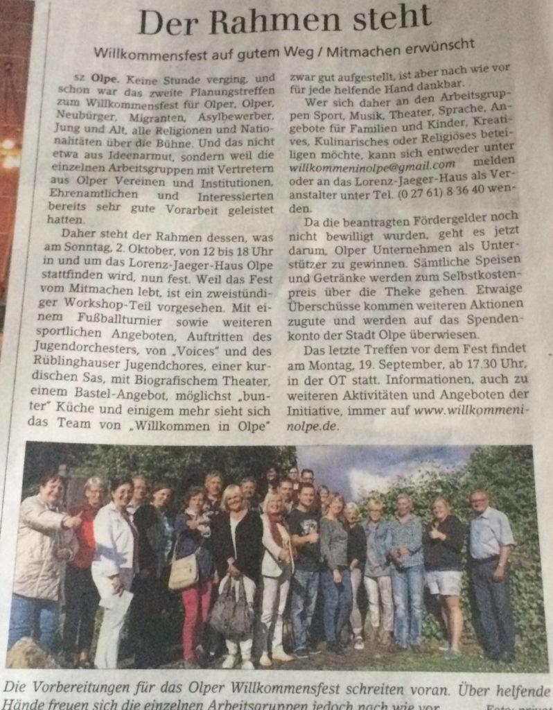 Siegener Zeitung Juni 2016