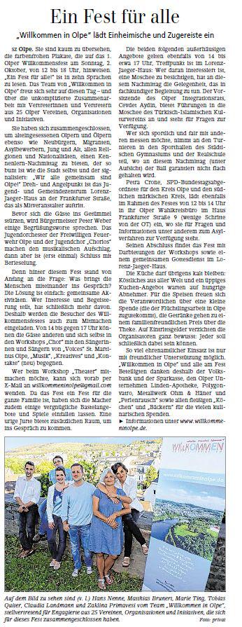 Siegener Zeitung August 2016